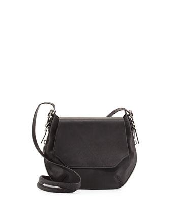 Bradbury Small Flap-Top Crossbody Bag, Black