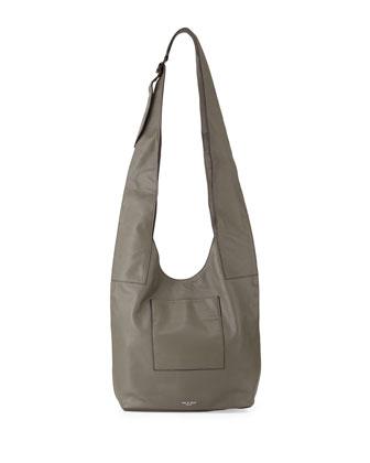 Goa Leather Crossbody Bag, Smoke