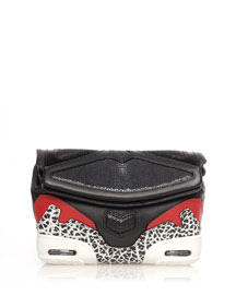 Stingray Colorblock Sneaker Clutch Bag, Black