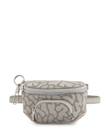 Dumbo Camo-Leather Belt Bag, Light Concrete
