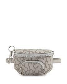 Dumbo Camo-Leather Belt Bag, Light Concrete