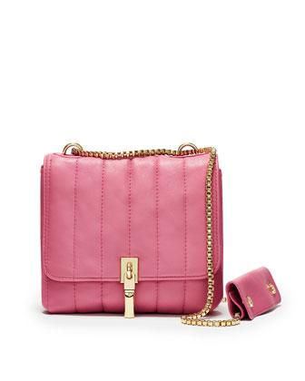 Cynnie Quilted Crossbody Bag, Zinnia Pink