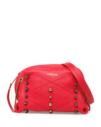 Sugar Mini Studded Crossbody Bag, Raspberry