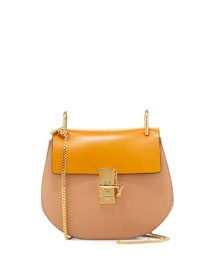 Drew Small Chain Shoulder Bag, Sand