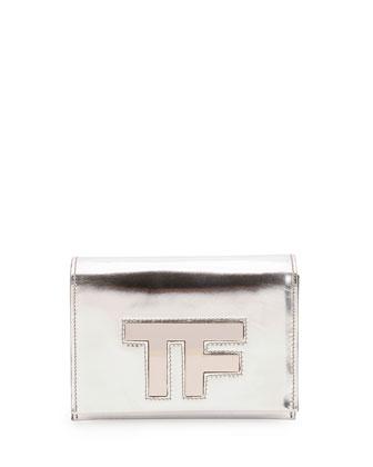 Small TF Chain Crossbody Bag, Silver