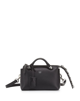 By The Way Mini Crystal-Tail Satchel Bag, Black