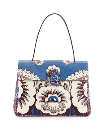 Kelly Floral-Print Tote Bag, Multi