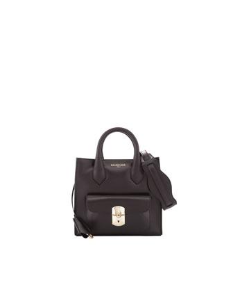 Padlock Mini All Crossbody Bag, Black