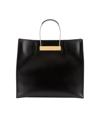 Cable Strap Medium Shopper Bag, Black