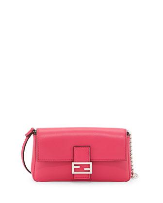 Micro Fendista Shoulder Bag, Pink