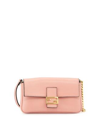 Micro Fendista Shoulder Bag, Light Pink