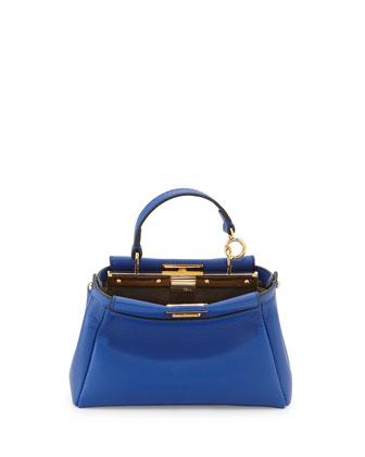 Mirco Peekaboo Satchel Bag, Blue
