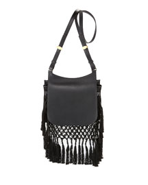 Hunting 11 Woven Shoulder Bag, Black
