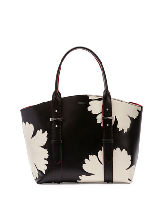 Legend Small Shopper Bag, Black/White