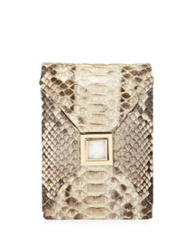 Itty-Bitty Metallic Prunella Crossbody Bag, Natural