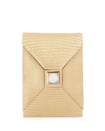 Itty-Bitty Metallic Prunella Crossbody Bag, Golden