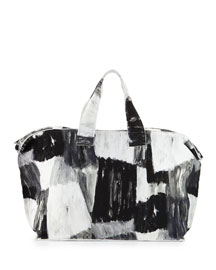 Watercolor-Print Canvas Bag