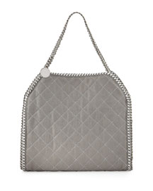 Baby Bella Quilted Shoulder Bag, Light Gray