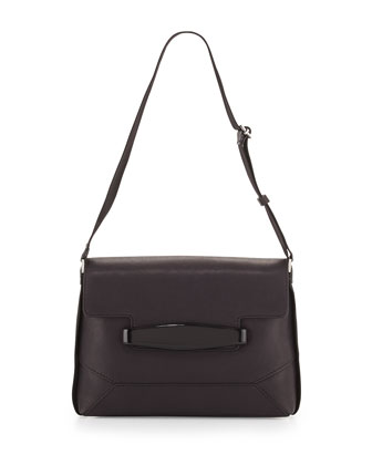 Bridge Topstitched Shoulder Bag