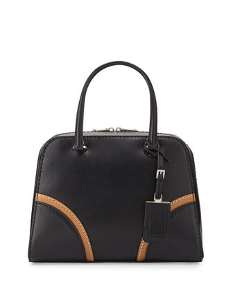 Vachetta Satchel Bag, Black (Nero)