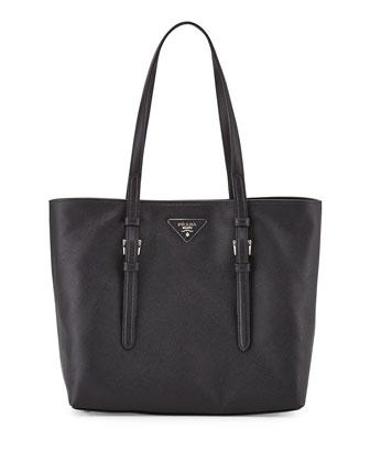 Saffiano Soft Tote Bag, Black (Nero)
