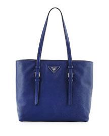 Saffiano Soft Tote Bag, Dark Blue (Inchiostro)