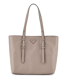 Saffiano Soft Tote Bag, Gray (Argilla)