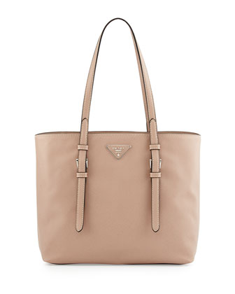 Saffiano Soft Tote Bag, Tan (Cammeo)