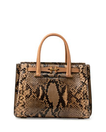 Madison 32 Python Tote Bag, Natural