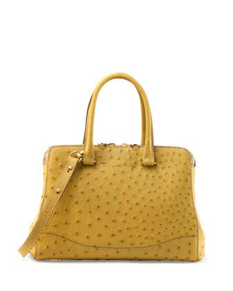 Villa 30 Ostrich Satchel, Yellow