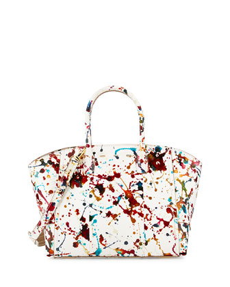 Brera 30 Sport Python Satchel Bag, Multicolor