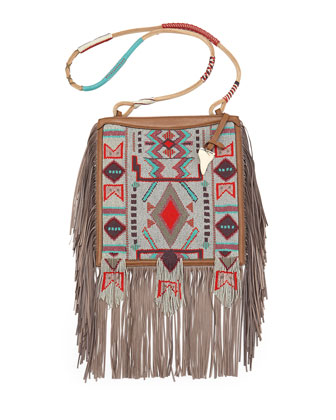 Beaded Fringe Crossbody Bag