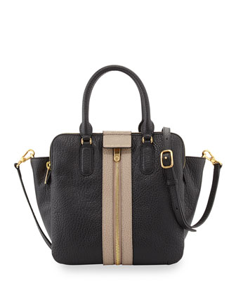 Roadster Leather Tote Bag, Black Multi