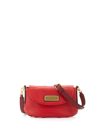 New Q Percy Flap Crossbody Bag, Rosy Red Multi
