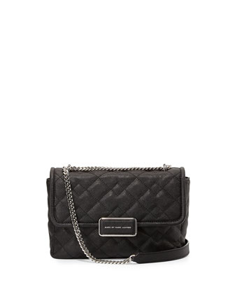 Rebel 24 Quilted Crossbody Bag, Black