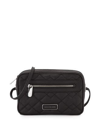 Sally Quilted Crossbody Bag, Black
