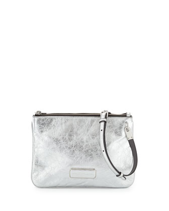 Ligero Novelty Double Percy Crossbody Bag, Silver