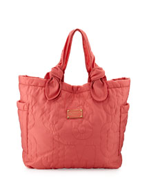 Pretty Nylon Tate Medium Tote Bag, Rose Bush