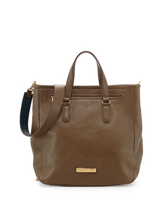 Luna Leather Tote Bag, Teak