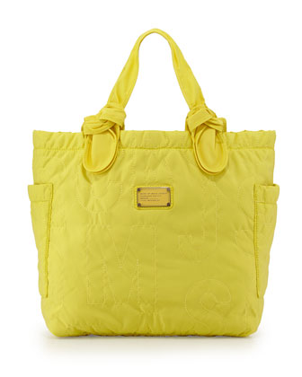 Pretty Nylon Tate Medium Tote Bag, Banana Creme