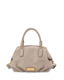 New Q Legend Satchel Bag, Cement