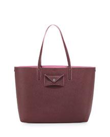 Metropolitote Saffiano Leather Tote Bag, Cardamom