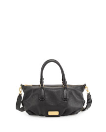 New Q Small Legend Satchel Bag, Black