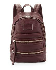 Domo Biker Leather Backpack, Cardamom