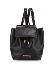 Ligero Smooth Leather Backpack, Black