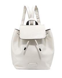Ligero Leather Flap-Top Backpack, Tumbleweed Beige