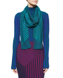 Shimmery Ribbed Knit Scarf