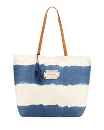 Indian Summer Stripe Tote Bag, Denim
