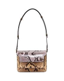 Python Mini Trunk Shoulder Bag, Multi