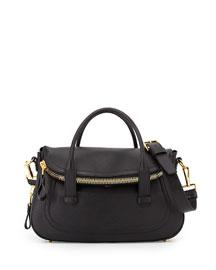 Jennifer Medium Top-Handle Bag, Black